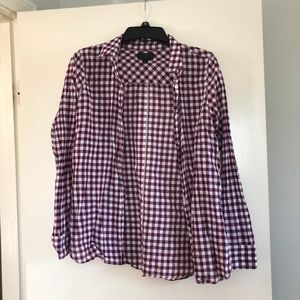 Purple and white Boy-Fit J Crew button-down